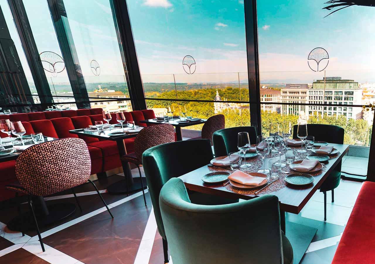 Galerías Restaurante Con Terraza Madrid Ginkgo Sky Bar